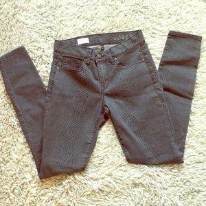 Gap snakeskin print skinny jeans